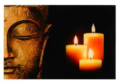 Glasbild T116, Wandbild Poster Motiv, 40x60cm ~ Buddha – Bild 3