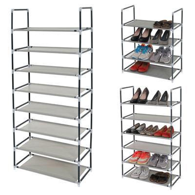 3er Set Schuhregal Brügge, Schuhablage Schuhständer Steckregal, je 4 Ebenen für 8 Paar Schuhe – Bild 5
