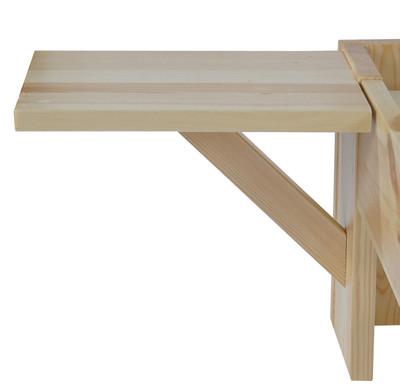 Bett Perth, Doppelbett, Massivholz incl. Lattenrost Ablage Kiefer ~ 160x200cm, natur lackiert – Bild 3
