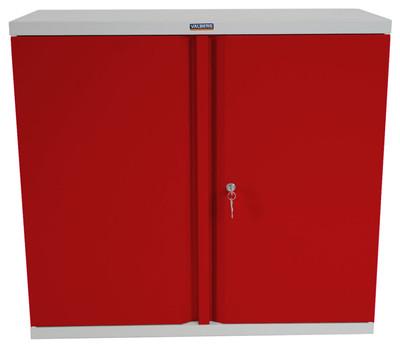 Aktenschrank Valberg T330, Metallschrank Büroschrank Stahlschrank, 2 Türen 84x92x37cm ~ rot – Bild 3