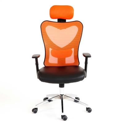 Profi-Bürostuhl Atlanta XXL, Chefsessel Drehstuhl, 150kg belastbar Kunstleder ~ orange – Bild 8