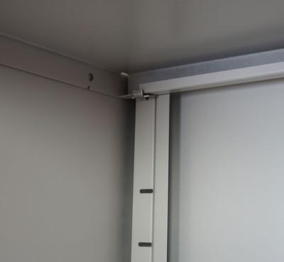 Aktenschrank Valberg T380, Metallschrank Büroschrank, 4 Türen 2 Schubladen 180x80x40cm – Bild 6