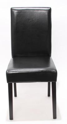 Garnitur Sitzgruppe Bank mit Aufbewahrung Kriens XXL+4 Stühle Littau, Leder ~ schwarz – Bild 4