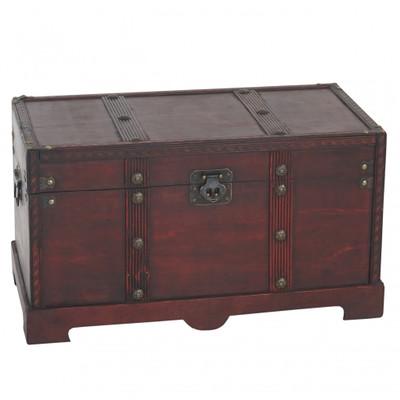 Holztruhe Holzbox Schatztruhe Valence Antikoptik 24x46x23cm ~ eckig – Bild 1