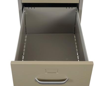 Hängeregisterschrank Boston T239, Aktenschrank Büroschrank Stahlschrank, 103x46x62cm ~ grau – Bild 7