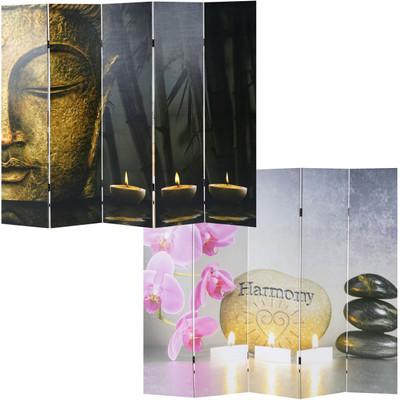 Foto-Paravent Buddha, Paravent Raumteiler Trennwand ~ 180x160 cm – Bild 5