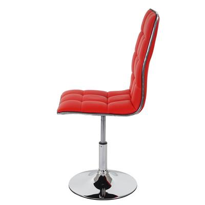 2x Esszimmerstuhl HWC-C41, Stuhl Lehnstuhl, höhenverstellbar drehbar, Kunstleder ~ rot – Bild 8
