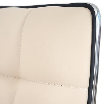 2x Esszimmerstuhl HWC-C41, Stuhl Lehnstuhl, höhenverstellbar drehbar, Kunstleder ~ braun – Bild 8