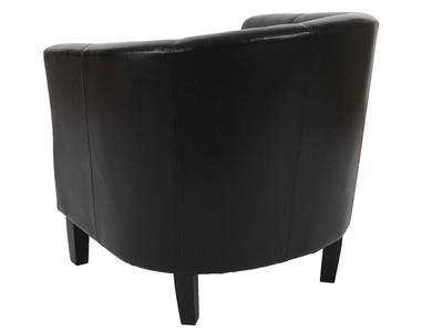 Sessel Newport T379, Loungesessel Clubsessel, Kunstleder ~ schwarz – Bild 4