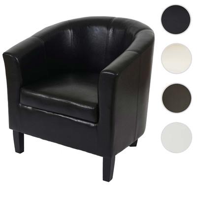 Sessel Newport T379, Loungesessel Clubsessel, Kunstleder ~ schwarz – Bild 8