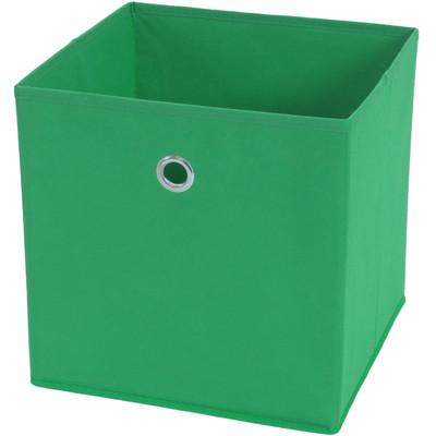 4x Faltbox T362, Aufbewahrungsbox Ordnungsbox, Textil 28x28x28cm ~ grün – Bild 1