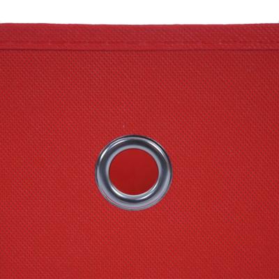 4x Faltbox T362, Aufbewahrungsbox Ordnungsbox, Textil 28x28x28cm ~ rot – Bild 4