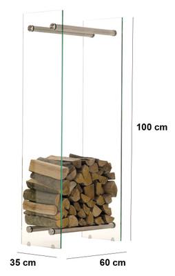Kaminholzständer Dacio E35x60x100 – Bild 2
