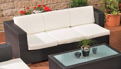 3er Sofa Provence Cremeweiss