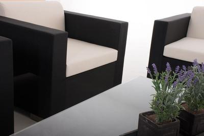 Gartengarnitur Brac 3-1-1 schwarz – Bild 6