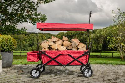 LAGERABVERKAUF!!! faltbarer Bollerwagen rot – Bild 3