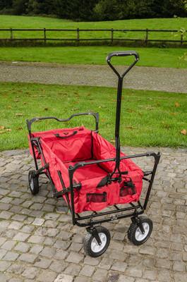 faltbarer Bollerwagen rot – Bild 4