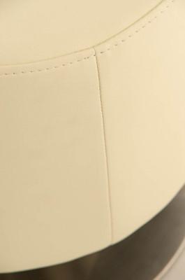 Sitzhocker Manau Kunstleder E47 creme – Bild 4