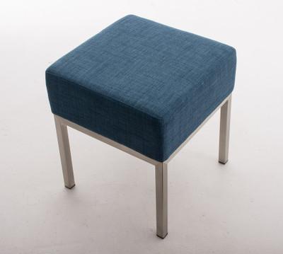 Sitzhocker Lamega STOFF blau – Bild 3