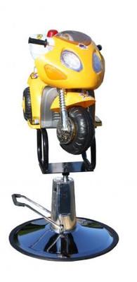 Kinderstuhl Motorrad gelb – Bild 3