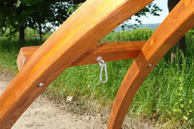 "Hängemattengestell HMG 350 Holz ""Brücke"" – Bild 5"
