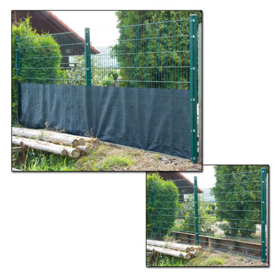 DEMA Sichtschutzzaun 25 x 1,2 m dunkelgrün  – Bild 2