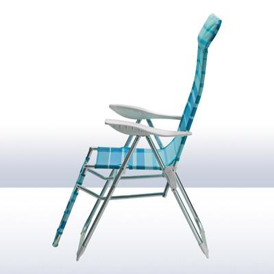 "Alu Relaxsessel ""Sunnyvale"" blau gestreift  – Bild 4"