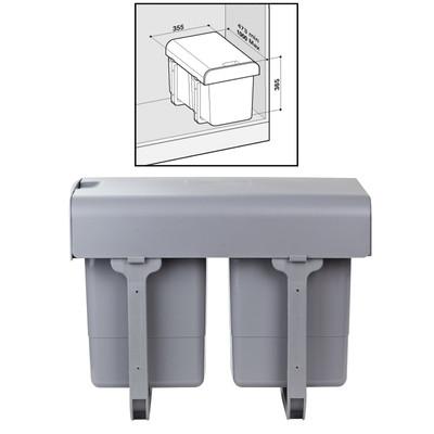 Abfallbehälter / Mülleimer 2x15 Ltr.  – Bild 2