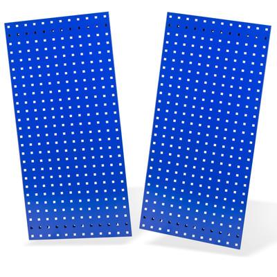 2x Lochplatte / Lochwand 987x456 Blau RAL 5003  – Bild 1