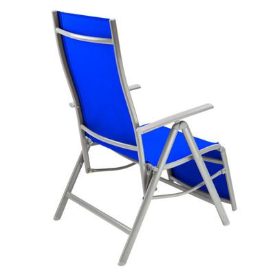 "Hochlehner Liegestuhl ""Corona"" blau  – Bild 3"