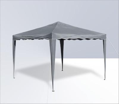 Alu/Metall Faltpavillon 3x3 Meter Grau – Bild 1