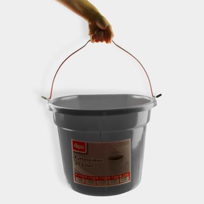 Futtereimer 20 Liter schwarz  – Bild 2
