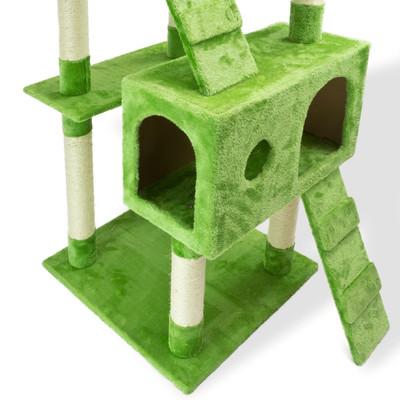 Katzen Kratzbaum Grün 180 cm – Bild 3