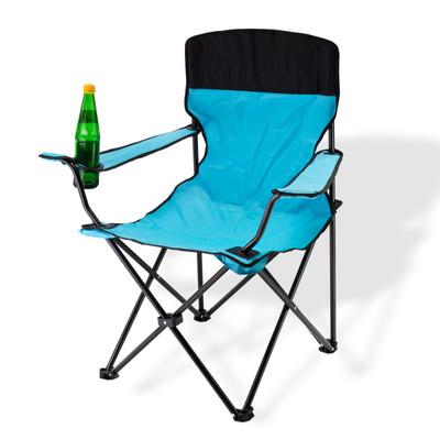 Faltstuhl mit hoher Lehne blau  – Bild 1