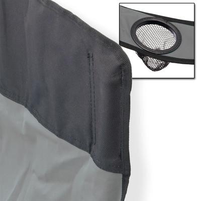 Faltstuhl mit hoher Lehne grau  – Bild 3