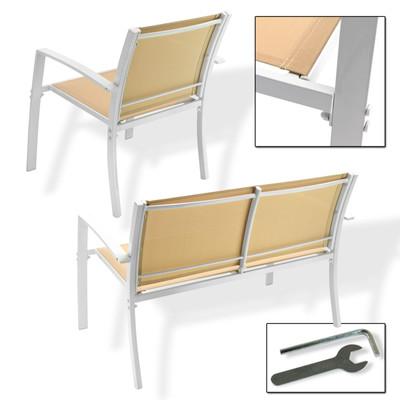 Sitzgruppengarnitur Miami 4 tlg. beige  – Bild 2