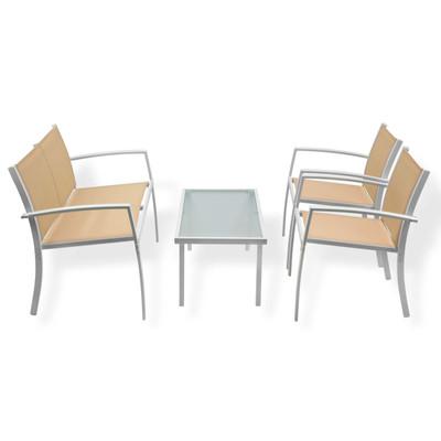Sitzgruppengarnitur Miami 4 tlg. beige  – Bild 1