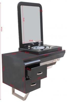 System-Arbeitsplatz ORISTANO (Erweiterungsmodul +1) Schleiflack schwarz   – Bild 3