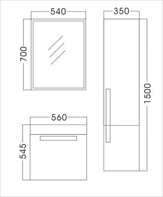 Badezimmer P558 Safari grau – Bild 2