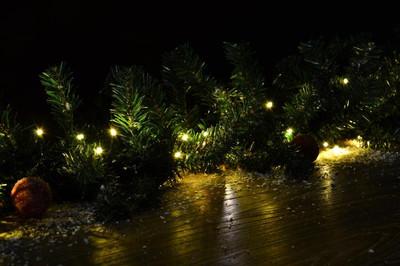 200 LED Lichterkette Farbwechsel warm weiss kalt weiss 9 Funktionen grünes Kabel – Bild 5