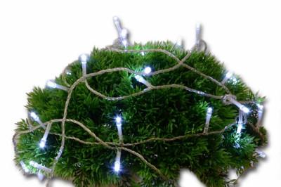 30er LED Lichterkette mit Timer weiss Aussenbeleuchtung Batteriebetrieb Weihnacht – Bild 5