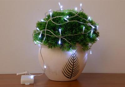 50er LED Lichterkette mit Timer weiss Aussenbeleuchtung Batteriebetrieb Weihnacht – Bild 5