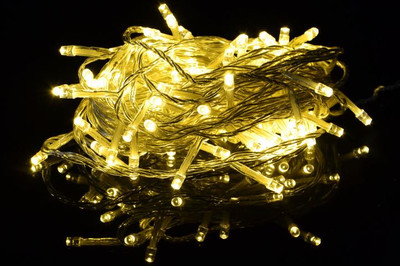 100er LED Lichterkette mit Timer warm weiss Aussenbeleuchtung Batteriebetrieb – Bild 5