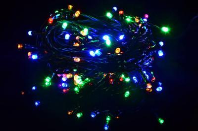 40 LED Lichterkette Innen Aussen bunt grünes Kabel mit Trafo Party-Dekoration – Bild 2