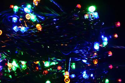 100er LED Lichterkette bunt grünes Kabel Innen Aussen Weihnachtsbeleuchtung 20 m – Bild 4
