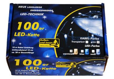 100er LED Lichterkette warmweiss grünes Kabel Innen Aussen Weihnachtsbeleuchtung – Bild 6
