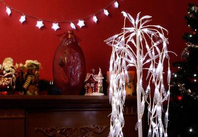 Weidenbaum Acryl Trauerweide 140 LED weiss Lichterbaum Lichterzweig aussen 85 cm – Bild 6