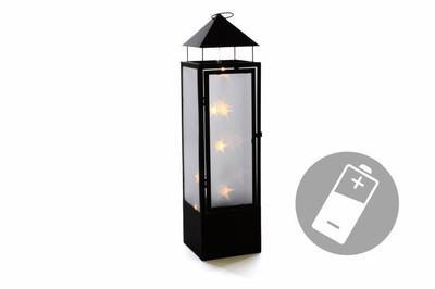20 LED Laterne Holografie 3D Effekt 70 cm Batterie Windlicht Leuchte Timer aussen – Bild 1