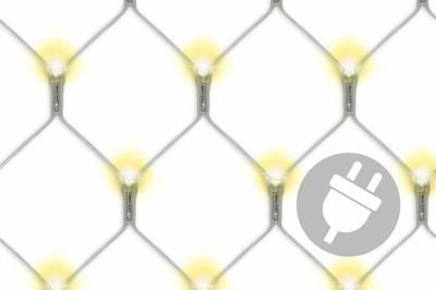 128 LED Lichternetz 3x3 m warm weiss Pavillonbeleuchtung Energiespar Beleuchtung – Bild 1