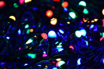 100er Maxi LED Lichterkette bunt aussen Party Deko Trafo grünes Kabel 20m – Bild 2